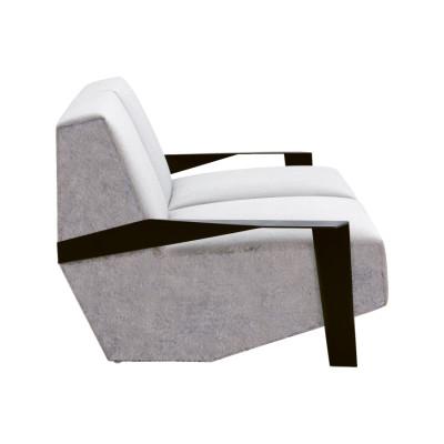 Silver Lake 2 Seater Sofa Padded Side A4139 - Remix 643 Vermilion, Tele Grey, 230 X 106