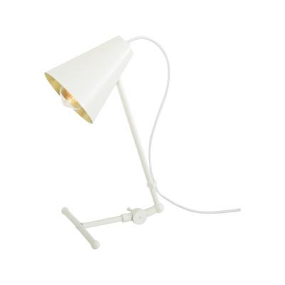 Sima Table Lamp Powder Coated White, UK Plug