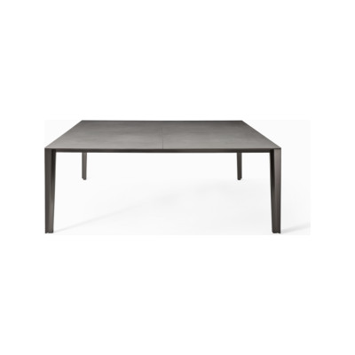 Skin Dining Table - Square B22 Bungee Brown, D84 White Calce, 200 x 200 cm, Yes
