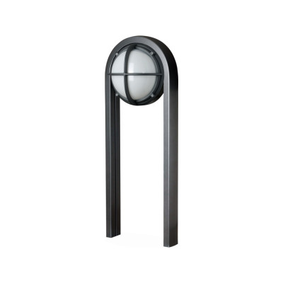 Skot Bollard Light Opal,Graphite with Textured Surface,8,5W LED 4000K
