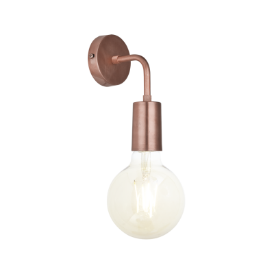Sleek Edison Wall Light Copper