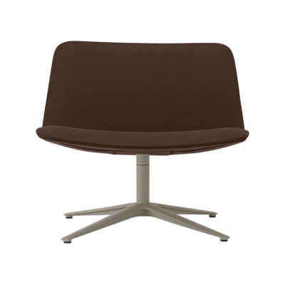 Slim Lounge Chair Low 4 809 Chromed Aluminium - CR, Leather Pelle Frau Color System - B004