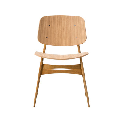 Soborg chair, wooden frame Oak lacquered