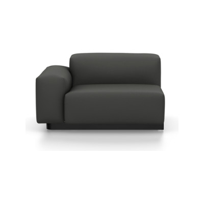 Soft Modular Sofa - Lateral Part Left Volo 02 dark grey