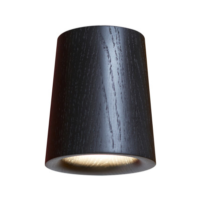 Solid Cone Downlight Black Stained Oak