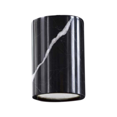 Solid Cylinder Downlight Nero Marquina Marble