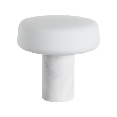 Solid Table Lamp Regular, Carrara Marble