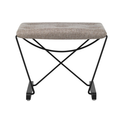 Spark Foot Stool RAL 3005 Wine Red - Clear Laquered Oak - Camira MLF12