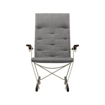 Spark Lounge Chair RAL 1015 Ivory - Walnut Stained Beech - Camira MLF02