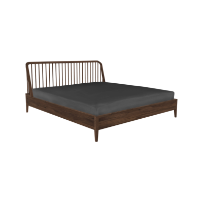Spindle bed - King Size Walnut
