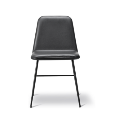 Spine Metal Base Dining Chair- fully upholstered Nubuck 501 Light sand, Black
