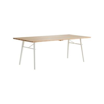 Split dining table Soap/white