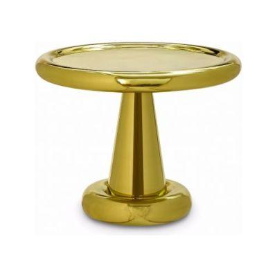 Spun Low Table Brass
