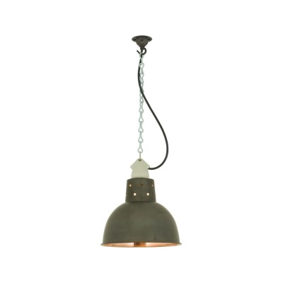 Spun Reflector with Suspension Lampholder 7165 Weathered / Polished Copper