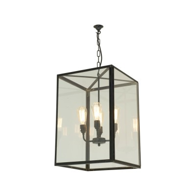 Square Pendant Light 7639 Clear glass, Large