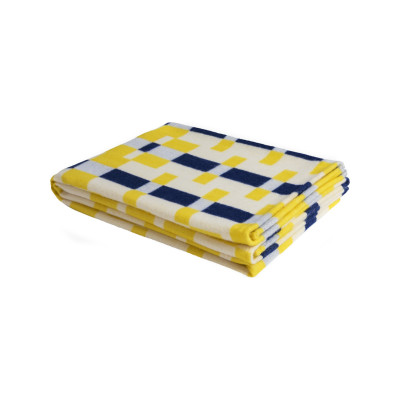 Square Throw Yellow Blue