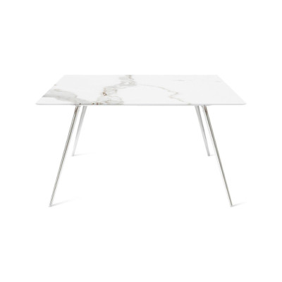 Stay Square Table Op 1059, Matt lacquered 48 Anthracite with Chrome legs, Op 1001