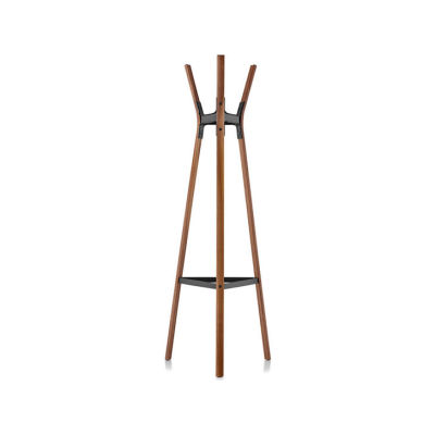 Steelwood Coat Stand American Walnut with Black Joints