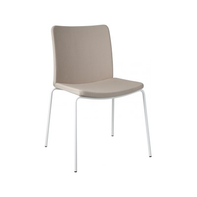 Stella Chair White Steel, Main Line Flax Newbury