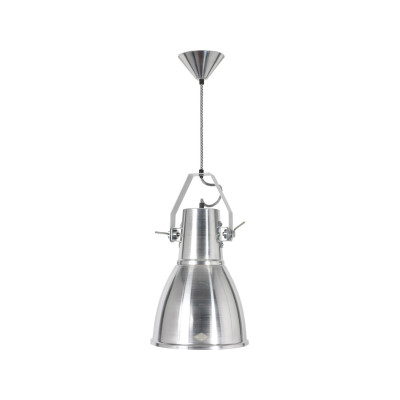 Stirrup Bracket Pendant Light Natural Aluminium