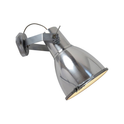 Stirrup Wall Light with Sandblasted Glass Natural Aluminium