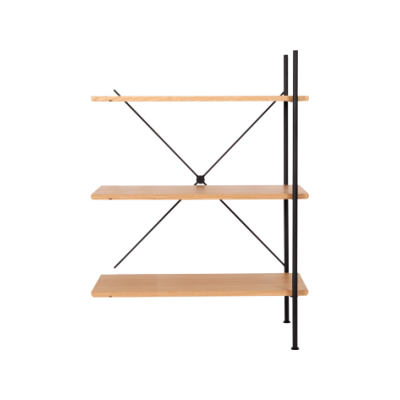 Stock Low Add-on Shelving Natural