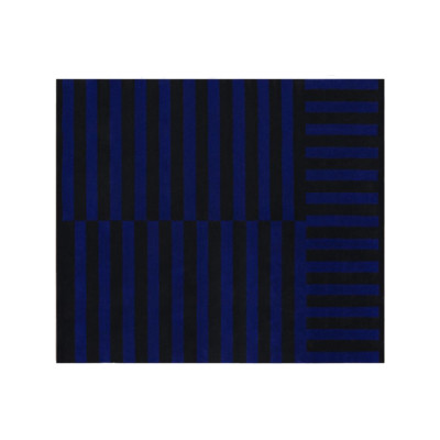 Stripe Large Rug Cobalt
