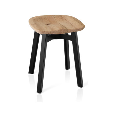 Su Stool Black Aluminium, Oak
