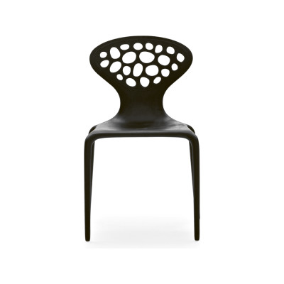 Supernatural Set of 4 Dining Chairs with Perforated Back Black