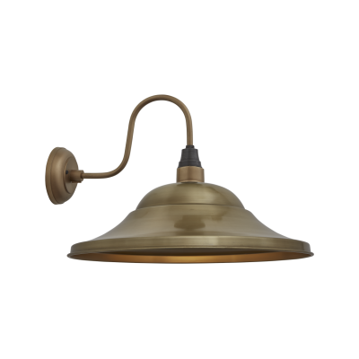 Swan Neck Giant Hat Wall Lights - 21 Inch Swan Neck Giant Hat Wall Light - 21 Inch - Brass