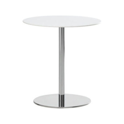 T1 Cafe Round Table stainless steel 316 / White HPL