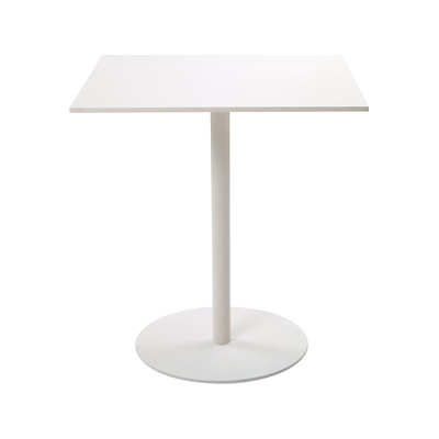 T1 Cafe Square Table stainless steel 304, white Melamine