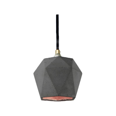 [T2] Pendant Light Dark Grey/Copper