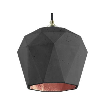 [T3] Pendant Light Dark Grey/Copper