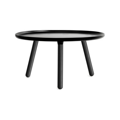 Tablo Round Coffee Table Black Top, Black Ash legs, Large
