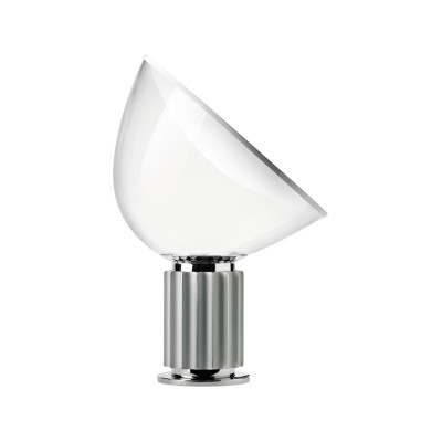 Taccia Small Table Lamp Anodized silver