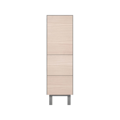 Tallboy 1 Door & 2 Drawers Oak, Light Grey