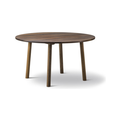 Taro Round Dining Table 120, Oak standard lacquer, Milled