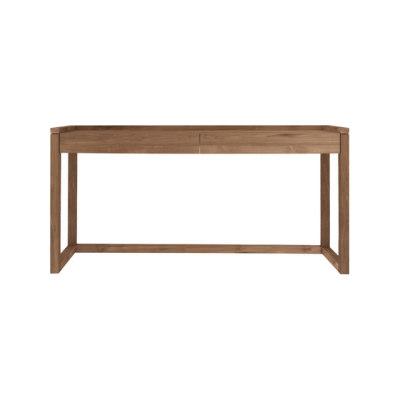 Teak Frame Office Console Table 160 x 43 x 82 cm