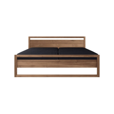 Teak Light Frame Bed mattress size 180-200