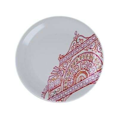 The White Snow Luminarie - Desssert Flat Plate Set of 6 Porcelain