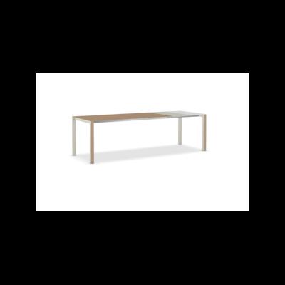 Thin-K Wood Extensible Table Aluminium Grey, 123-163-203 x 80, European Oak, Grey, Grey, Square