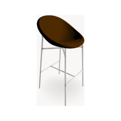Tia Maria Bar Stool B0211 - Leather Oil cirè, Chromed Steel