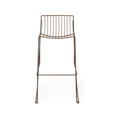 Tio Bar Stool Pale Brown - RAL 8025, 75cm