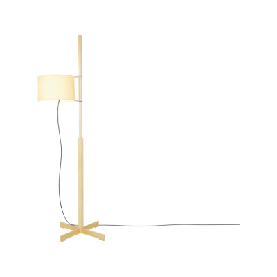 TMM Floor Lamp Walnut, White with upper diffuser in white translucent methacrylate