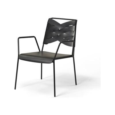 Torso Lounge Chair Black / Black