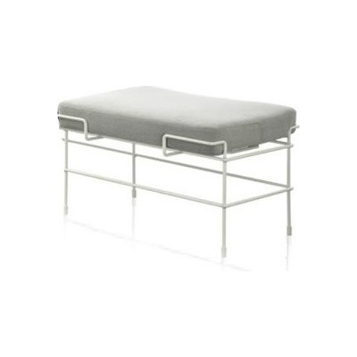 Traffic One Seater Bench White 5011, Steelcut Trio 2 133