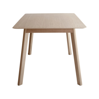 Transalpina Dining Table, Non-extendable White Open Pore Lacquered on Oak, 200cm