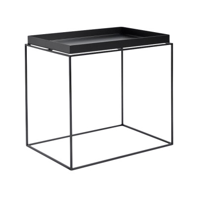 Tray Rectangular Side Table Black