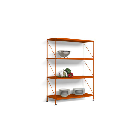Tria Pack Floor Shelving System Orange